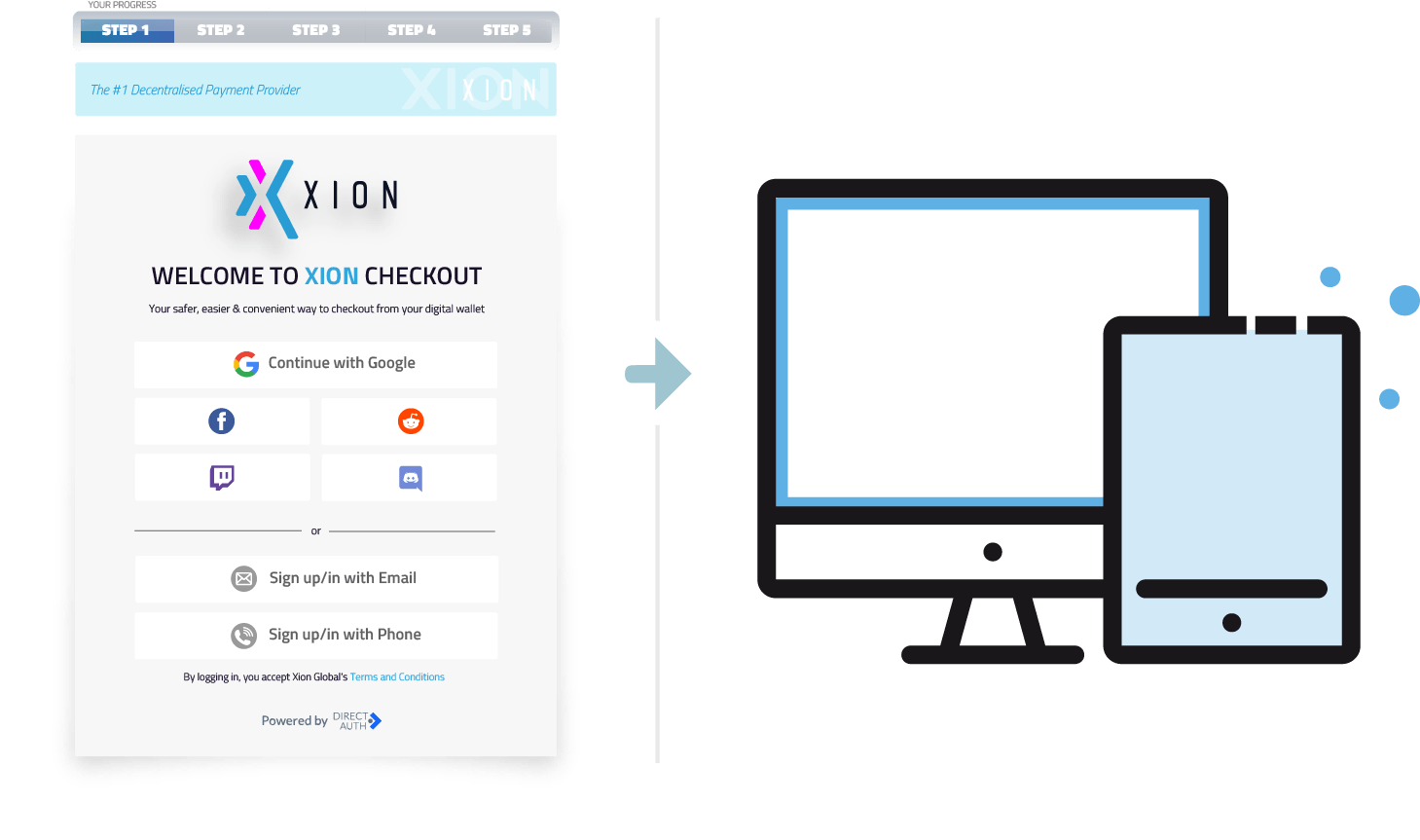 Accelerated account creation facility- Xion Global