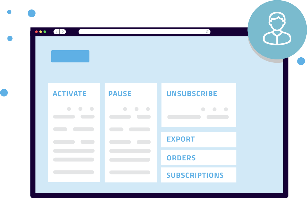 Manage orders, customers and checkout buttons Xion Global