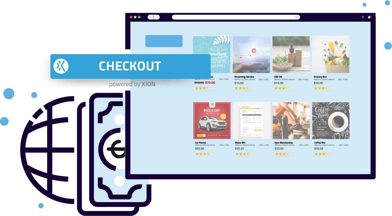 ecommerce check out buttons Xion Global