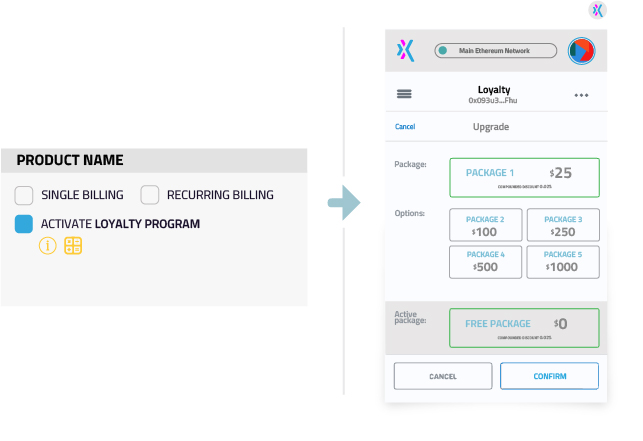 Add a loyalty program in one click with Xion