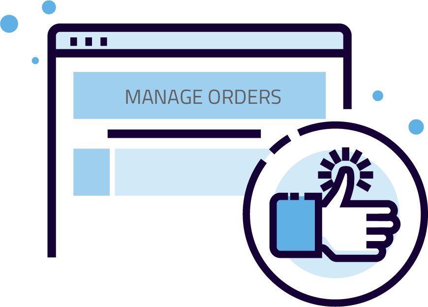 Direct customers to manage orders with Xion Global